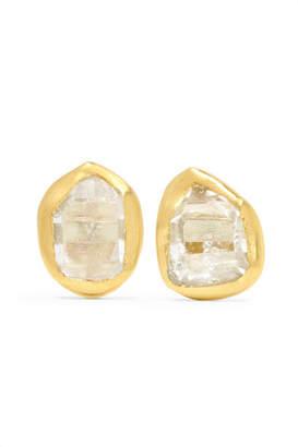 Pippa Small 18-karat Gold Herkimer Diamond Earrings