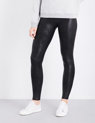 Spanx High-rise faux-leather leggings $94 thestylecure.com