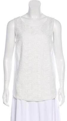 Fabiana Filippi Embroidered Sleeveless Top