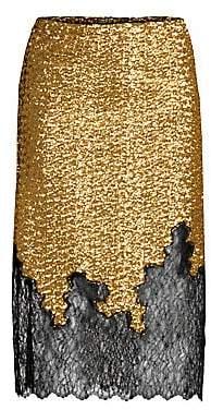 Robert Rodriguez Women's Sequin& Lace Skirt