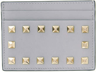 Valentino Grey Garavani Rockstud Card Holder