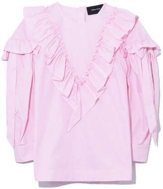 Simone Rocha Ruffle Bow Top in Pink