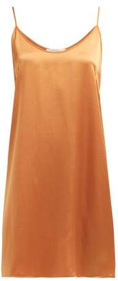 Araks Pearl Silk Slip Dress - Womens - Orange
