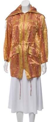 Diane von Furstenberg Metallic Polka Dot Jacket Pink Metallic Polka Dot Jacket