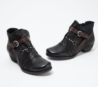 Miz Mooz Leather Buckle Ankle Boots - Marnie