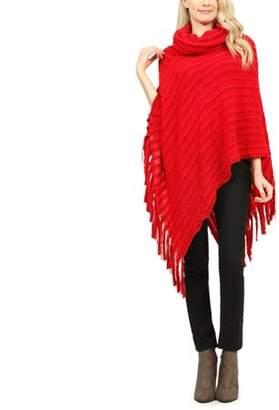 Riah Fashion Classic Cowl Winter Poncho