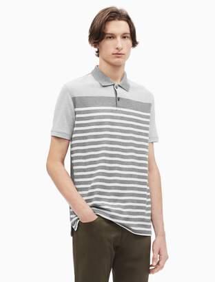 Calvin Klein regular fit pique oxford stripe polo shirt