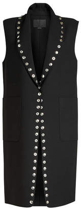 Alexander Wang Sleeveless Virgin Wool Vest with Embellishment
