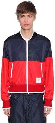 Thom Browne Two Tone Nylon Ripstop Bomber Jacket