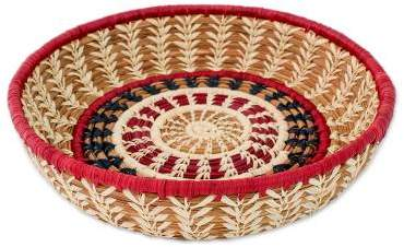 Mother Nature Artisan Crafted Natural Fiber Basket from Central America