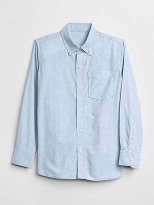 Gap Uniform Poplin Long Sleeve Shirt