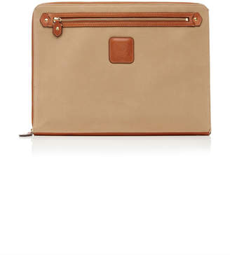"Ghurka 15"" Leather-Trimmed Twill Laptop Sleeve"