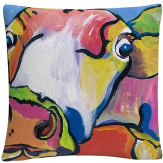 Trademark Art Pat Saunders-White 'Cold Hands' 16 X 16 Decorative Throw Pillow