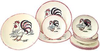 One Kings Lane Vintage Rooster Dinnerware Set - 11 Pcs - Jacki Mallick Designs