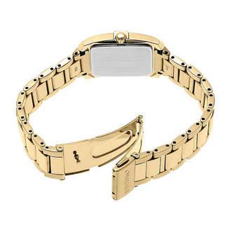 Seiko Dress Sport Womens Diamond Accent Gold Tone Stainless Steel Bracelet Watch-Sup378
