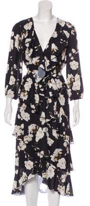 Alice + Olivia Ruffled Floral Dress
