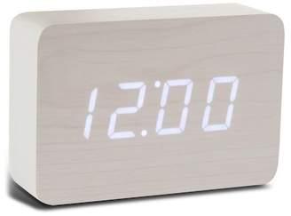 GINGKO Brick Click Clock - White/White LED