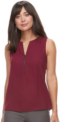 Apt. 9 Women's Zipper Accent Tank