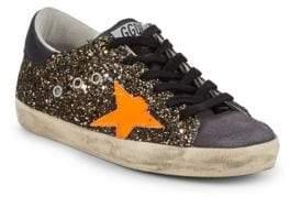 Golden Goose Superstar Distressed Sparkle Sneakers