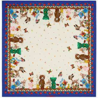 Gucci Animals print cotton baby blanket