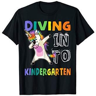 Team Kindergarten Unicorn Dabbing Back To School Shirt