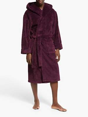 John Lewis & Partners High Pile Hooded Robe