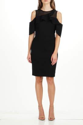 Adelyn Rae Luz OTS Illusion Neck Dress