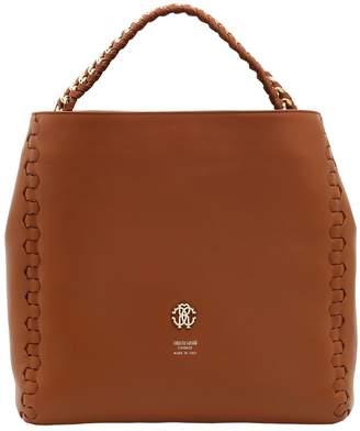 Roberto Cavalli Regina Leather Shoulder Bag
