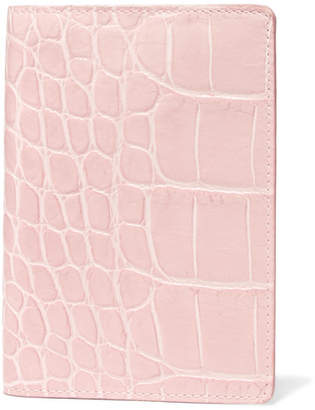 Factory The Case Croc-effect Leather Passport Cover - Pastel pink