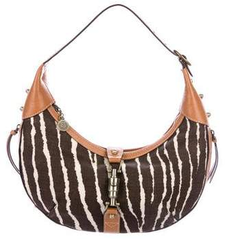 Eric Javits Textured Leather-Trimmed Hobo