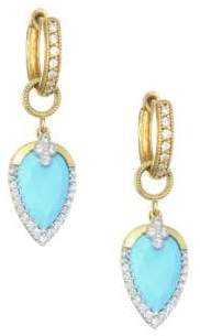 Jude Frances Diamond Pave, Turquoise& 18K Yellow Gold Earring Charms
