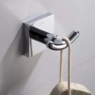 Kraus KRAUS Ventus Bathroom Robe and Towel Double Hook, Chrome Finish