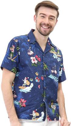 6d61e57f Hawaii Hangoveren's Hawaiian Shirt Aloha Shirt Christas Shirt Santa Navy