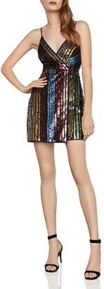 BCBGMAXAZRIA Eve Sequin Rainbow Stripe Dress