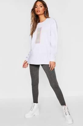 boohoo Long Sleeve Printed T-Shirt