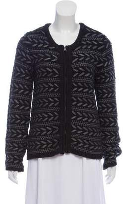Rag & Bone Knit Metallic-Trim Jacket