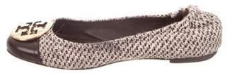 Tory Burch Fabric Cap-Toe Flats
