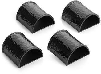 Michael Aram Hammertone Black Napkin Rings, 4-Piece Set