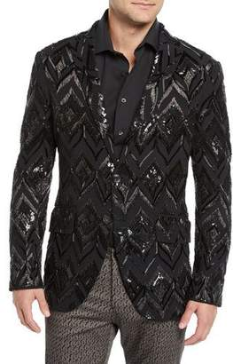 Etro Men's Sport Coat with Glass Detail