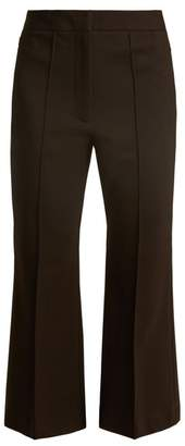 Tibi Jane Slim Leg Cropped Trousers - Womens - Black