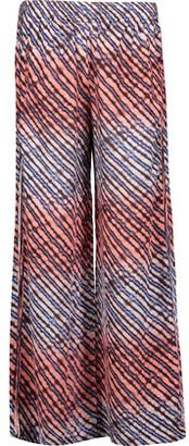 Vix Lice Printed Silk-Georgette Wide-Leg Pants $246 thestylecure.com