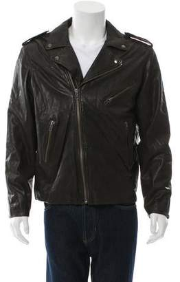 What Goes Around Comes Around Leather Biker Jacket w/ Tags