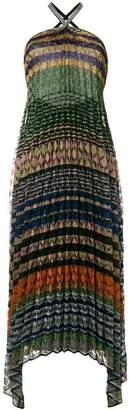 Missoni pleated lurex halter dress