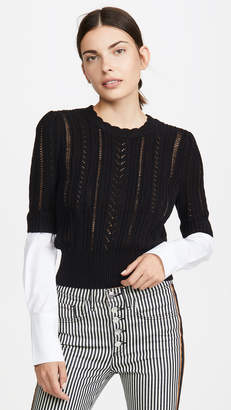 Veronica Beard Spence Mixed Media Sweater