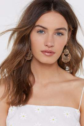 Nasty Gal Antique Coin Drop Earrings