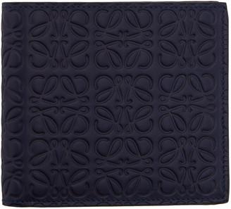 Loewe Navy Anagram Wallet $390 thestylecure.com