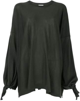 P.A.R.O.S.H. tie sleeve sweatshirt