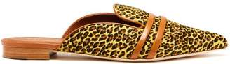 Malone Souliers By Roy Luwolt - Hermione Calf Hair Backless Loafers - Womens - Leopard