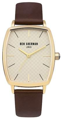 Ben Sherman Men's Quartz Leather Strap Watch, 34mm