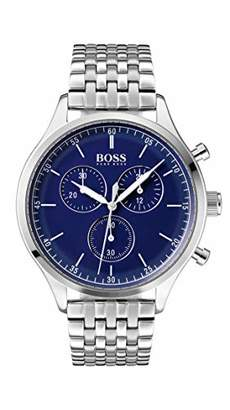 HUGO BOSS Watch Mens Chronograph Quartz Watch with Stainless Steel Strap  1513653 1bdf990336